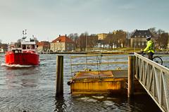 High Water, town ferry, Old Town; Fredrikstad - Norway (iharsten) Tags: ferry january quay oldtown gamlebyen stfold fredrikstad glomma 2013 gamlebyfergen
