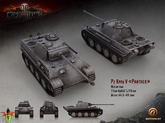 wot_1024_768_pz_v_panther_eng (BaslatTusu) Tags: world wallpaper game tanks wot of tanklar