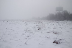 Misty tower (DavidAndersson) Tags: winter mist snow tower field fog sweden hazy desolate distant vnersborg tamron18200f3563