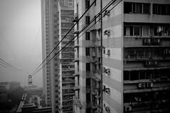 重庆 都市风景 (SinoLaZZeR) Tags: blackandwhite bw car blackwhite fuji cityscapes cable finepix fujifilm 中国 chongqing 风景 黑白 重庆 x100 缆车 都市 大楼 都市风景