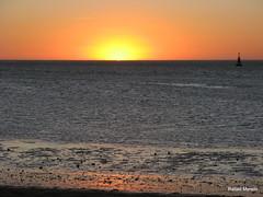 Puesta de sol en Sanlcar (Guervs) Tags: sunset sea espaa sun sol beach atardecer mar seaside andaluca spain guadalquivir playa andalusia puesta cdiz sanlcar barrameda