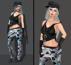 Arrest me (Toya Shelman) Tags: new tattoo hair necklace blog belt eyes shoes tank pants post mesh skin top sneakers mg gloves cap secondlife lip hait deco limited handcuffs eyeliner hod blk gizza 2real secondlifefashion groupgift balkanik lelutka celoe clemmm glamaffair