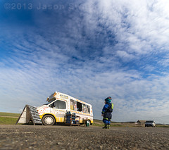 The Curious Tale of the Small Boy and the Ice Cream Van (s0ulsurfing) Tags: ocean family winter boy s