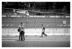 (LikeAPolaroid) Tags: rome roma love rollei blackwhite kiss olympus xa amore bianconero bacio ribbet retro80s