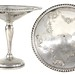 2079. Pair of Sterling Silver Compotes, circa 1920