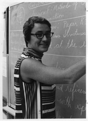 Dorita Anne Norton (1931-1972) (Smithsonian Institution) Tags: woman smile stripes 1960s 1968 teaching professor eyeglasses chalkboard endocrinology sixties scientist smithsonianinstitution steroids sunybuffalo crystallography smithsonianinstitutionarchives womenshistorymonth2013