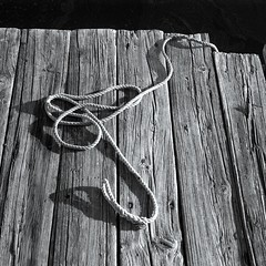 Town River Pier (With Rope) (jores59) Tags: 6x6 quincy 120film townriver agfaisolette quincyma townriverbay