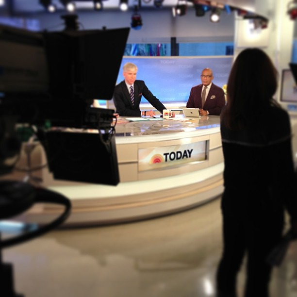 Al's here! Inside @todayshow #SteveInToday