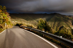 Road to the storm (_Franck Michel_) Tags: road sun storm dark soleil hill route sombre coline tempete mygearandme