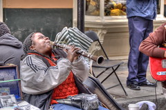 Portrait:  Doreen Ketchens Wails (George - with over 2 mil views - THANKS) Tags: urban music usa fall french louisiana unitedstates neworleans jazz quarter doreen clarinet jazzband royalstreet streetband urbanscene neworleansarea hdraddicted nikond700 photogeorge hdrterrorist hdrphotomatixpro doreenketchens doreensjazzneworleansband clarinetqueen