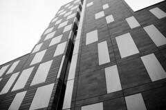 Angular 2 (DavidAndersson) Tags: city windows blackandwhite building monochrome wall gteborg hotel gothenburg lookingup clarion rectangles tamron18200f3563