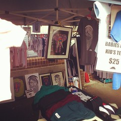 My Bondi markets stall (Mulga The Artist) Tags: square squareformat rise iphoneography instagramapp uploaded:by=instagram