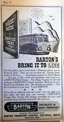 1951 Ad. (1) (Old Bus Man) Tags: festivalofbritain newspaperad bartontransport