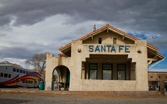 newmexico-0165 (FarFlungTravels) Tags: new newmexico santafe station train mexico state parking central depot nm railyard tomasitas railrunner