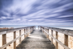 Hampton Way Through Time (MDanielsonPhoto) Tags: ocean longexposure sky ny beach longisland atlantic boardwalk hampton westhampton southfork hamptonway