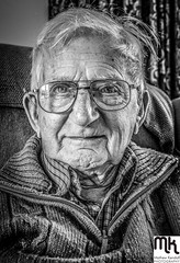 90 year stare (MathewKendallPhotography) Tags: old portrait man smile glasses eyes grandfather oldman soul wise grin grandad 90 pensioner