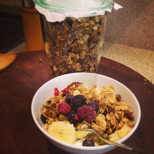 Home made granola and yogurt for foursies.