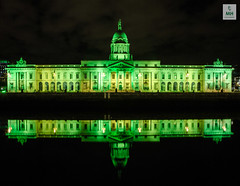Happy Saint Patrick's Day (Mick H 51) Tags: longexposure dublin house reflection green night canon march shot liffey 28 custom stpatricksday customhouse mk3 2470 2013 saintpatricksfestival thecustomhouse 5dmkiii spf13 paddysdays mickhunt 312a9988 dublingoesgreenforstpatricksday