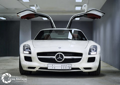 Mercedes-Benz SLS AMG (Tareq Abuhajjaj | Photography & Design) Tags: mercedes benz amg sls v8 doors light lighting speed car cars auto tareqphcom tareqdesign power saudi arab arabia 500px flickr fast rims white fly riyadh uae dubai tareq abuhajjaj أبوحجاج tareqdesigncom tareqmoon top black photography design 2010 gear high moon ksa d700 nikon photo nice red ابوحجاج طارق مصمم مصور نيكون sport