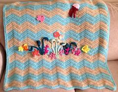 Under the Sea Baby Blanket (pekeapoomom) Tags: baby fish ripple crochet blanket afghan