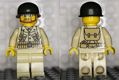 WWII US airborne minifig (zalbaar) Tags: minifig customs zalbaar