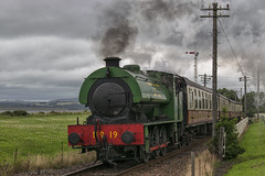 Steaming In Bo'ness (Colin Myers Photography) Tags: heritage colin train photography scotland moody scottish rail railway loco steam forth locomotive along boness steamtrain steaming firth myers no19 kinneil bonessrailway colinmyersphotography wwwcolinmyerscom