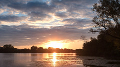 Sunrise and Clouds (mahar15) Tags: clouds morning summer sunrise landscape dawn outdoors nature water august sky reflections lake park minnesota lakepark lakewinona
