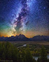 "Milky Way Tetons (IronRodArt - Royce Bair (""Star Shooter"")) Tags: milkyway tetons tetonrange grandtetons grandtetonnationalpark snakeriver snakeriveroverlook"