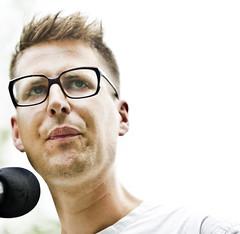 Maarten Inghels op het theeveld