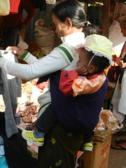 Kalaw (simo2582) Tags: people asian asia burmese shanstate shan birma birmania burma myanmar market kalaw human trade typical hilltribes tribes mountain hillstation village countryside travel reise blick unterwegs world traditional 5daysmarket groceries street baby woman mum