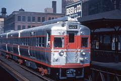 CTA 5000 at Halsted 1947 (jsmatlak) Tags: chicago cta l elevated subway rapid transit electric railway train 5000