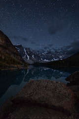 Another Moraine Night (Bun Lee) Tags: canadianrockies landscape moranielake rockymountains alberta astrophotography banff banffnationalpark bunlee bunleephotography canada galactic lake mountains nature nightskies nightscapes stars valleyoftenpeaks