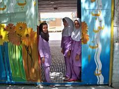 Iranian schoolgirls (Yazd) (Sasha India) Tags: iran irn yezd yazd                           iranian schoolgirls