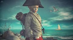 Skippy~SHIP!!!!! (Skip Staheli (Clientlist closed)) Tags: skippyberesford skipstaheli secondlife sl kid child boy water ship bajanort seagul sea dreamy avatar virtualworld digitalpainting