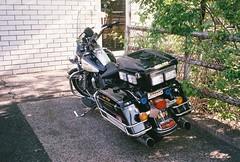 Glen Ridge Police Motorcycle (Nesster) Tags: pentax zoom 60x fujicolor 400