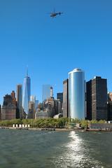 Skyline & Helicopter (nestor.ferraro) Tags: newyork ny freedom tower skyscraper skyline helicopter helicoptero staten ferry