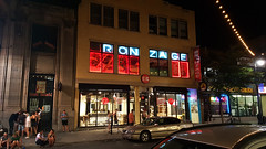 RONZAGE (Exile on Ontario St) Tags: ronzage montreal latenight night saintlaurent themain clublambi outside revellers drinkers crowd public bars club lambi montral nuit nightshot bronzage tanning street sidewalk girl woman sitting curb people neon sign affiche enseigne rue signe stlaurent closing time late passerby passersby passants trottoir nightlife nocturne