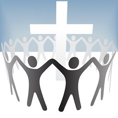 People Circle Hold Up Hands Gather Around a Cross (httlgd.truyenthong) Tags: people cross men around arms raised up hands circle worshippers congregation parishioners worship christian christians christianity community ring gathering spiritual religion object concept illustration isolated symbol clipart vector