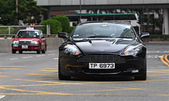 Aston Martin, DB9, Central, Hong Kong (Daryl Chapman Photography) Tags: tp6973 am astonmartin db9 central 1d mkiv car cars auto autos automobile canon eos is ii 70200l f28 road engine power nice wheels rims hongkong china sar drive drivers driving fast grip photoshop cs6 windows darylchapman automotive photography hk hkg bhp horsepower brakes gas fuel petrol topgear headlights worldcars daryl chapman