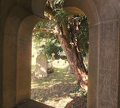 Beautiful spot! (springblossom3) Tags: church cogges witney oxfordshire archway graveyard gateway cotswolds stone relic window