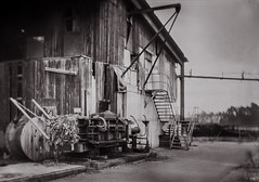 Old Papermill (*altglas*) Tags: lostplace old forgotten decay verfall papiermhle papermill ruin ruine fabrik mentorpanorama 13x18 jcoxlondon8f33 konicaxray expired expiredfilm rodinal150 bw schwarzweis sepia toned grosformat largeformat 5x7 film analog