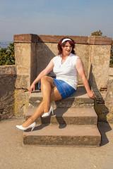 BF6b (Tinaturtle27) Tags: crossdresser transvestite pantyhose burgfrankenstein