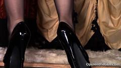 3 (opulentfetish) Tags: pantyhose highheels longhair blackhair goddesscheyenne pov rearend ass crotchless dungeon zipper breasts skirt posing bra legs legshow closeup atlantadominatrix opulentfetish