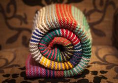 scraps blanket (arripay) Tags: knitting knitted blanket gerter stitch stripes striped stripy