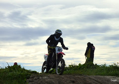 An Orkney Motocross Club Moment (orquil) Tags: rider motorbike motorcycle contestant motocrossclub beachrace sandy track sanddunes profile marshall silhouette september autumn nice cloudscape east coastline burray island southisles orkney islands scotland uk unitedkingdom greatbritain orcades offroad race interesting number12 scrambling thebu actionshot