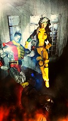 And he's down (custombase) Tags: marvellegends xmen juggernaut rogue select colossus