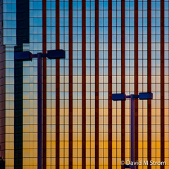 Minneapolis Skyscrapers at Sunset (David M Strom -- On and Off) Tags: lines skyscraper sunset shapes minneapolis reflections architecture davidstrom minimal abstract