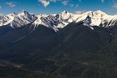 just nature (Felix Ermert) Tags: kanada canada alberta banff national park canon eos 60d roadtrip sulphur mountain lookout nature forest mountains snow blue sky clouds beautiful