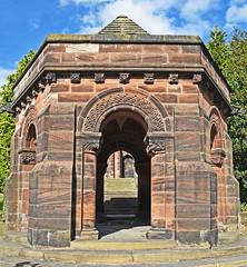 Gateway to the church. (MWBee) Tags: stgeorges unitedreformchurch thorntonhough sandstone steps doors gateway mwbee nikon d750