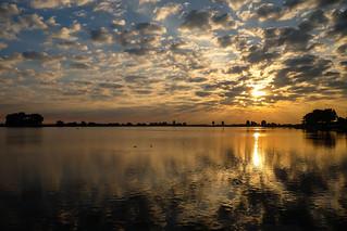 zonsopgang - sunrise Nieuwpoort België